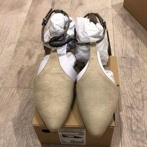 Zara flats in cream size 8 or 39euro, new